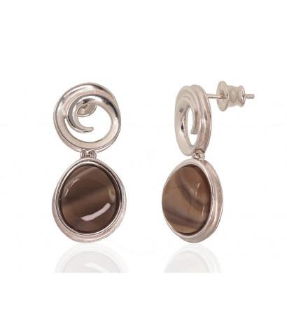Silver stud earrings...