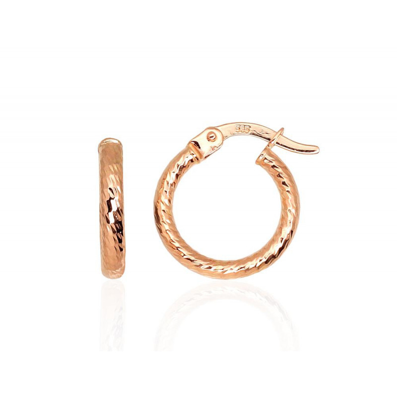 Gold rings-earrings 1201300(Au-R), Red Gold585°
