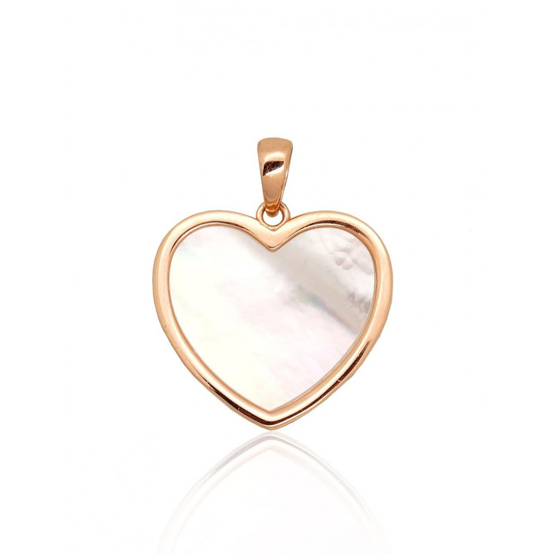Gold pendant 1300818(Au-R)_PL, Red Gold585°, Mother-of-pearl