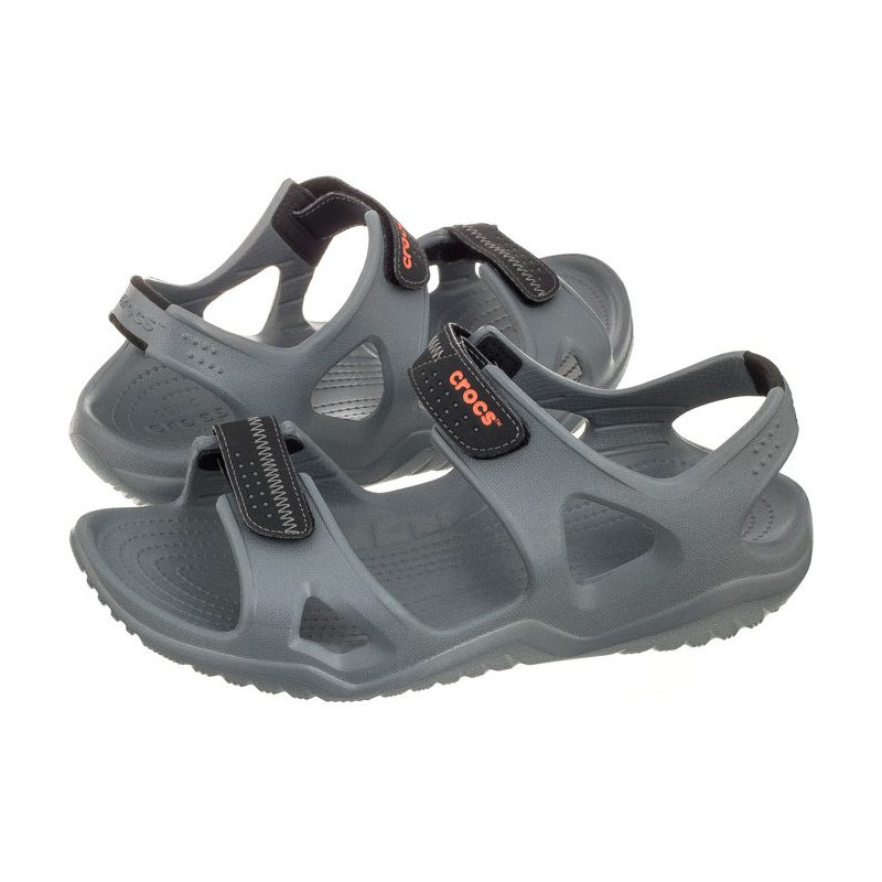 a4b612b39bc0 Crocs Swiftwater River Sandal M Charcoal 203965-082 (CR124-b) sandalai.  Loading zoom