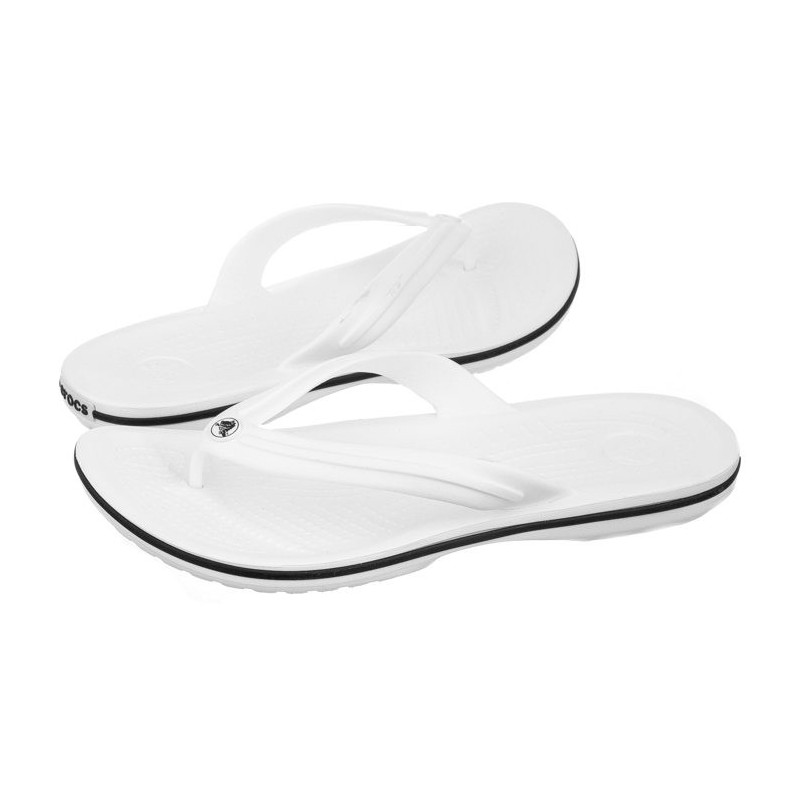 544cca1eac6 Crocs Crocband Flip White 11033-100 (CR86-g) slippers - slippers for
