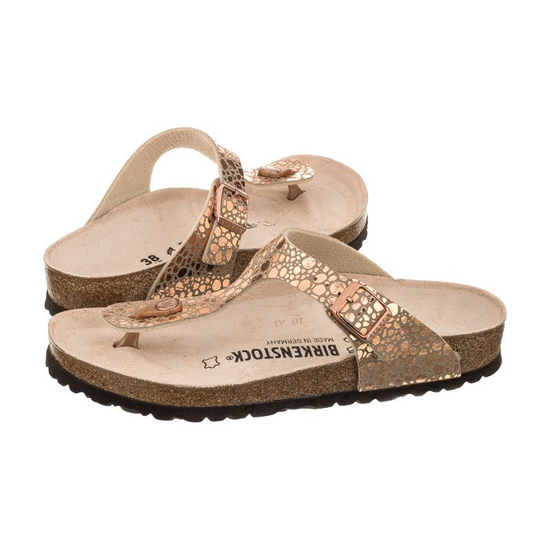cheaper 8dbbc 44717 Birkenstock Gizeh BS Metallic Stones Copper 1005674 (BK73-a) slippers