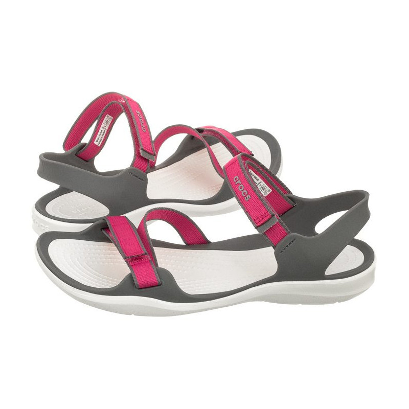 df48f9e0c056 Crocs Swiftwater Webbing Sandal Paradise Pink Smoke 204804-6OH (CR147-a).  Loading zoom