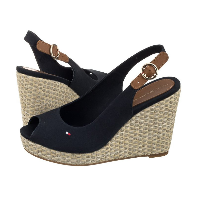820884bbba70 Tommy Hilfiger Iconic Elena Basic Sling Back FW0FW02787 403 Midnight  (TH1-a). Loading zoom