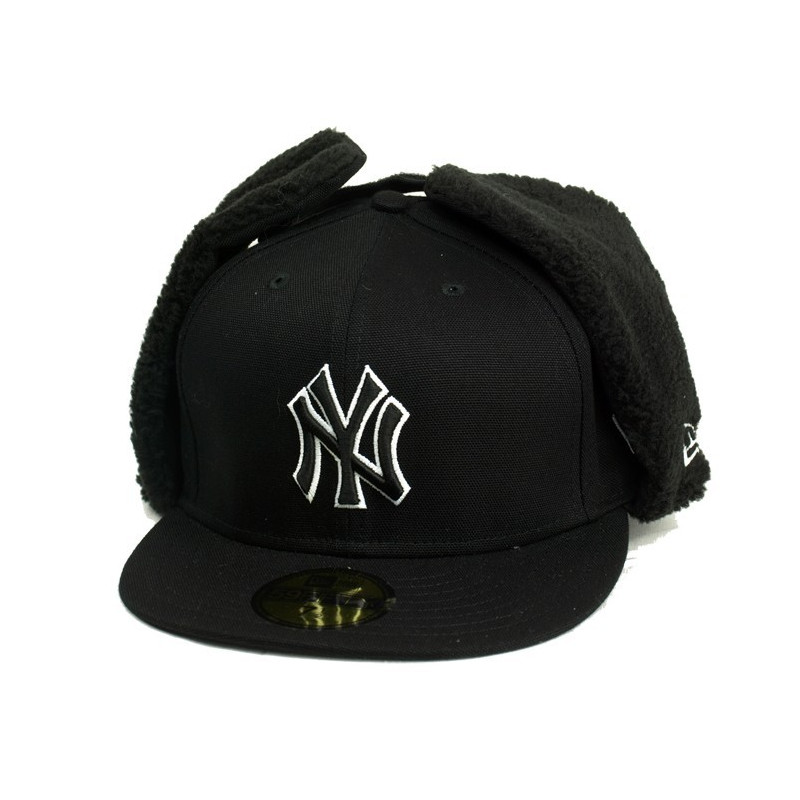 New Era Allcan Houston New York Yankees Cap - Black / White kepurė