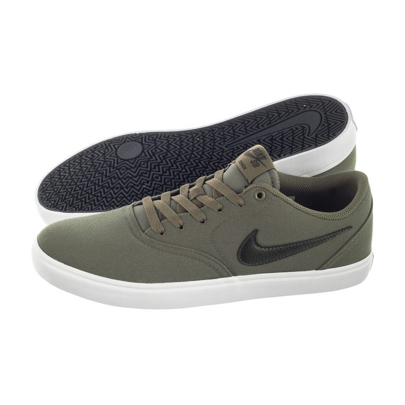 nike sb green check solar trainers
