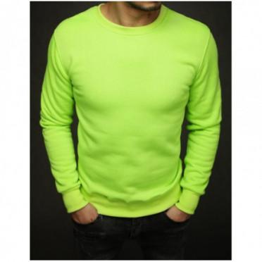 Džemperis (Bluza męska gładka limonkowa BX4371