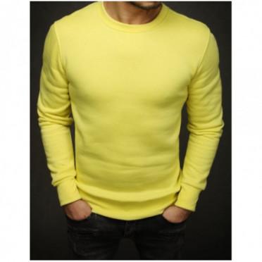 Džemperis (Bluza męska gładka żółta BX4372