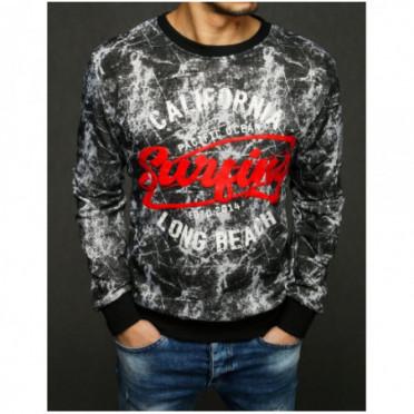 Džemperis (Bluza męska bez kaptura jasnoszara BX4410