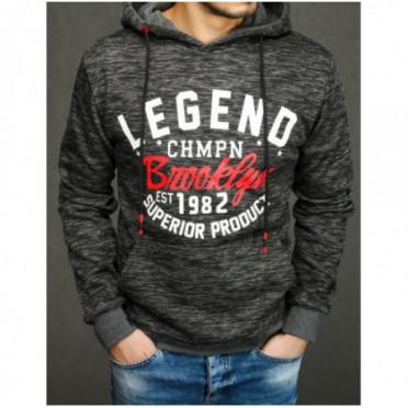 Džemperis (Bluza męska z kapturem antracytowa BX4280
