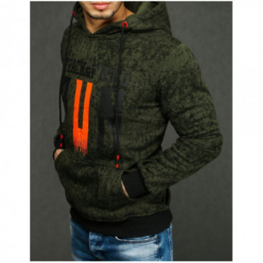 Džemperis (Bluza męska z kapturem zielona BX4438