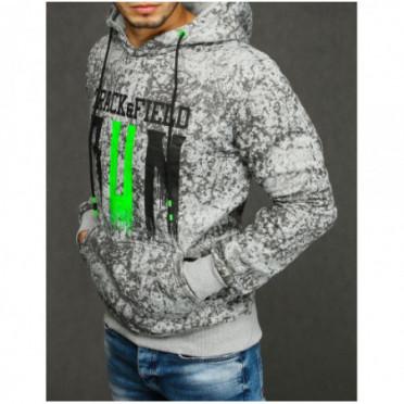 Džemperis (Bluza męska z kapturem jasnoszara BX4439