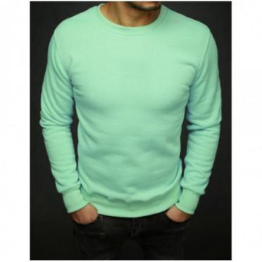 Džemperis (Bluza męska gładka miętowa BX4385