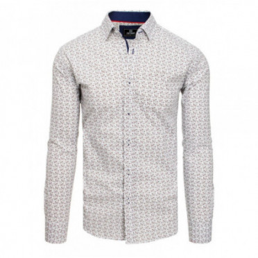 Marškiniai (Koszula męska PREMIUM z długim rękawem biała DX1822