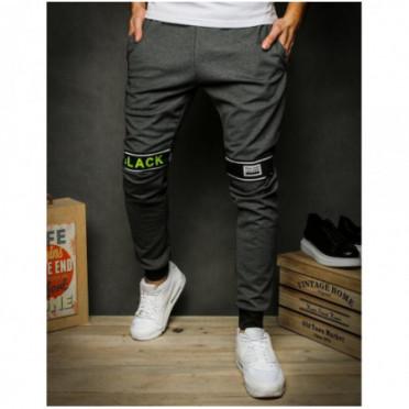 Kelnės (Spodnie męskie dresowe czarne UX2416