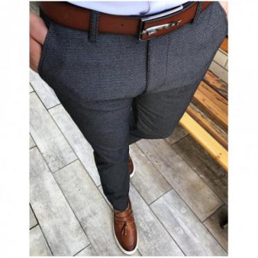 Kelnės (Spodnie męskie ciemnoszare UX2452