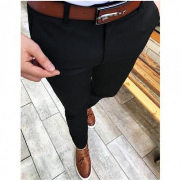 Kelnės (Spodnie męskie czarne UX2453