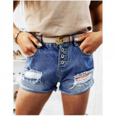 Sijonas (Spodenki damskie jeansowe MORGEN niebieskie SY0105
