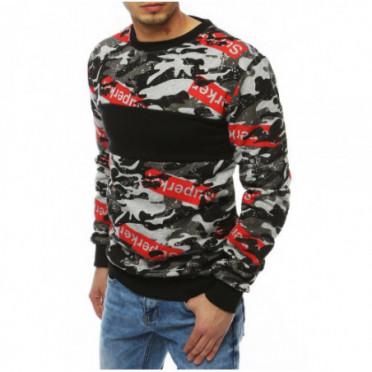 Džemperis (Bluza męska bez kaptura jasnoszara BX4255