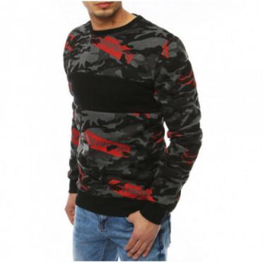 Džemperis (Bluza męska bez kaptura ciemnoszara BX4256