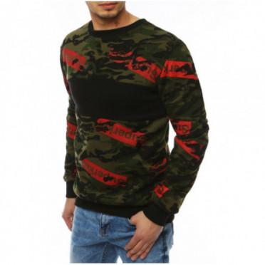 Džemperis (Bluza męska bez kaptura zielona BX4257